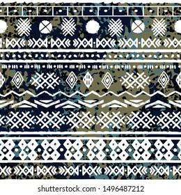Ethnic, boho seamless pattern. Tribal art ornament. Abstract background texture. Geometric print. Fabric design, wallpaper