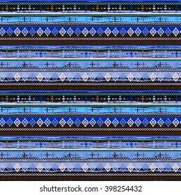 Ethnic boho seamless pattern. Tribal art boho print, border ornament. Background texture, decoration