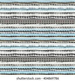 Ethnic boho seamless pattern. Tribal art print, border ornament. Background texture, decoration