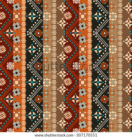 Ethnic Boho Seamless Pattern Tribal Art Stock Vector