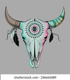 ethnic bull skull