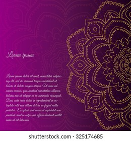 Ethnic & Colorful Henna Mandala with Vintage decorative elements. design Round Ornament Pattern.