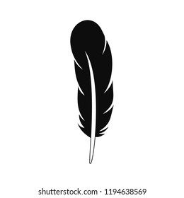 Ethnic feather icon. Simple illustration of ethnic feather vector icon for web design isolated on white background