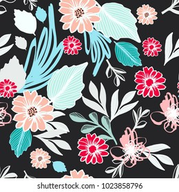 Ethnic Floral Seamless Pattern for Fashion and Design