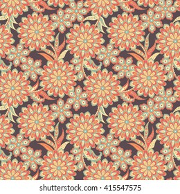 f08ba7d23ccd Wild Flowers Floral Vector Pattern Template Printing Stock Vector ...