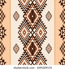 Ethnic geometric abstract seamless pattern