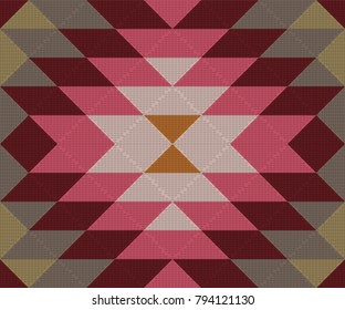 Ethnic geometric ornament. Kilim, Turkish, Aztec woven rug. Seamless vector pattern