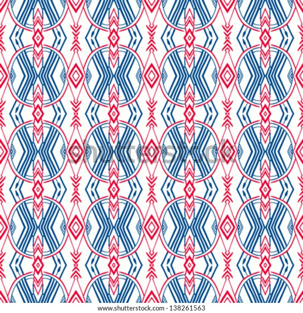 Ethnic geometric pattern with Scandinavian, Norwegian, Russian and Ukrainian motifs. Texture for web, print, wallpaper, decals, fall winter fashion, fabric design, website background or holiday decor