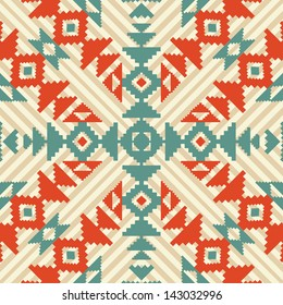 Ethnic geometric seamless ornament