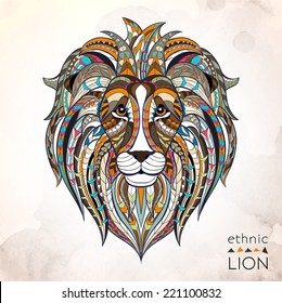 Ethnic lion / african / indian / totem / tattoo design
