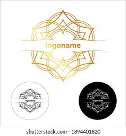 Ethnic logo - a traditional symbol. Template design.