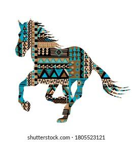 Ethnische Motive mit Ornamenten