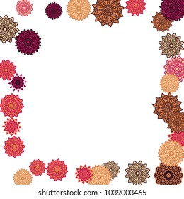 Christmas Background Cute Colorful Snowflakes On Stock Vector