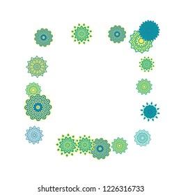 Ethnic Background Snowflakes Mandalas Winter Pattern Stock Vector
