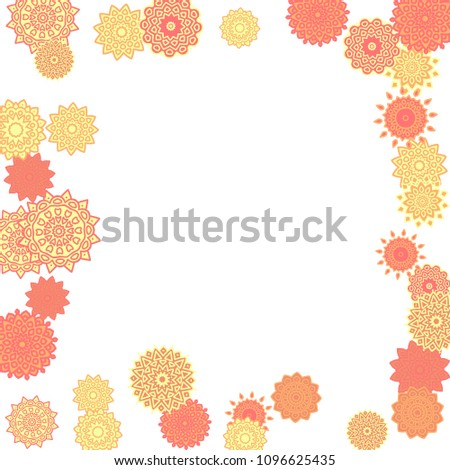 Ethnic Orient Background Simple Mandala Motives Stock Vector