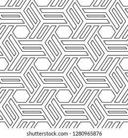 Ethnic ornament. Folk image. Mosaics background. Hexagons, quadrangles, figures motif.Tribal wallpaper. Polygons backdrop. Geometric pattern. Digital paper, web design, textile print. Seamless vector