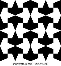 Ethnic ornament. Folk wallpaper. Tribal pattern. Figures motif. Mosaic tiles. Digital paper, surface texture, abstract background, textile print, web design, backdrop, vector work. Seamless image