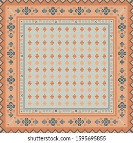 Ethnic ornament motif for scarf pattern design