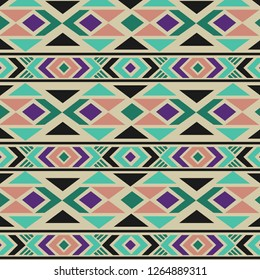 Ethnic pattern. Border ornament. Native american design, Navajo. Mexican motif, Aztec ornament