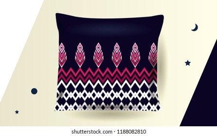 Ethnic pattern Design for pillow,curtain,clothing,background,carpet,wallpaper,wrapping,Batik,fabric,Vector illustration.