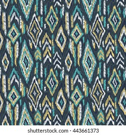 Ethnic pattern. Tribal doodles ornament background. Hand drawn effect illustration. Pattern for trendy backgrounds, printed products, paper or clothes fabric.