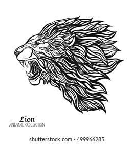 Roaring Lion Sketch Images Stock Photos Vectors Shutterstock