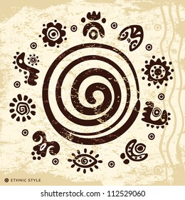 Ethnic petroglyphs