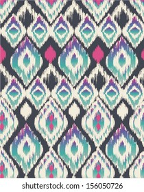 ethnic print vector pattern background
