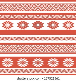 ethnic seamless background. textures in red and white colors. vector illustration
