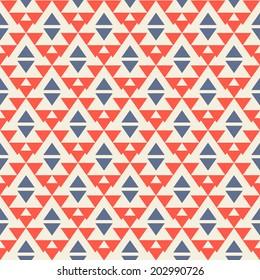 Ethnic seamless pattern. Aztec background. Vector illustration.