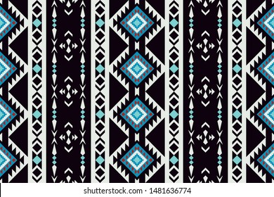 Ethnic seamless pattern. Aztec geometric ornament. Navajo print. Tribal design blanket, fabric, cover, textile, wrapping.