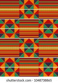 Ethnic seamless pattern. Cloth Kente.