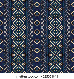 Ethnic seamless pattern. Geometric ornament. Abstract vector illustration.