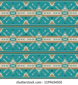 Ethnic seamless pattern. Native Southwest American, Indian, Aztec textiles. Navajo print.