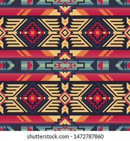 Ethnic seamless pattern. Native Southwest American, Aztec textiles. Navajo print.