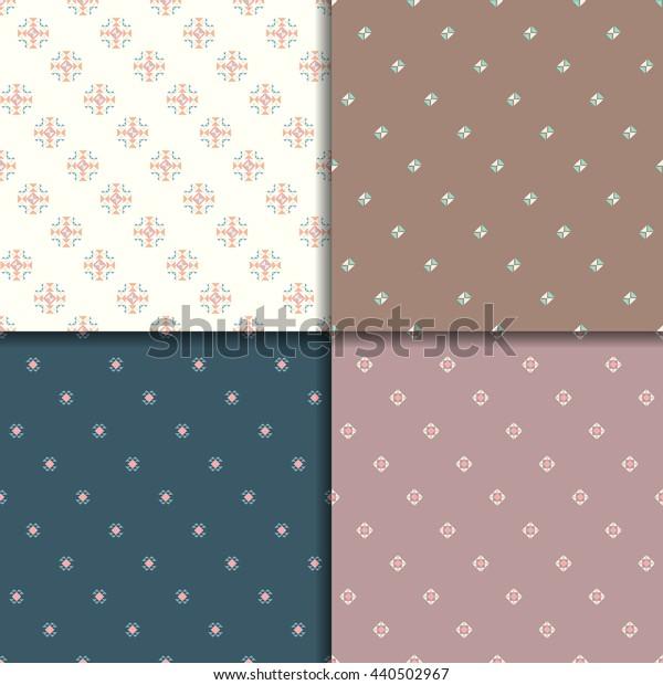 Ethnic seamless pattern set