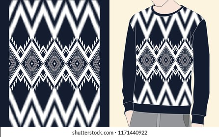 Ethnic seamless pattern traditional Design for clothing,background,carpet,wallpaper,wrapping,Batik,fabric,Vector illustration.embroidery style.