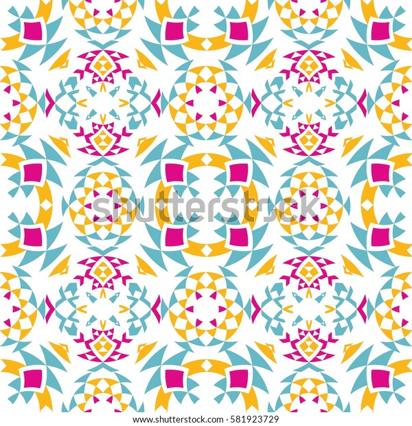 Ethnic seamless pattern with triangle and abstract geometric ornament. Tribal background texture. Vector illustration hipster background.