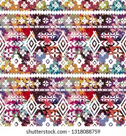 Ethnic seamless pattern. Tribal art print. Folk repeating pattern. Background, ethno texture. Fabric design