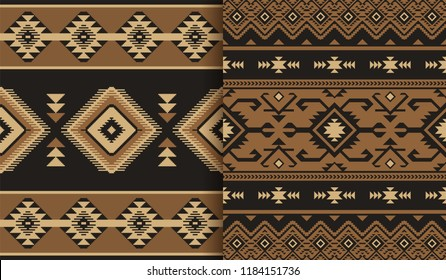 Ethnic seamless patterns. Tribal print, kilim. Can be used as wall and floor carpets, bedspreads, tablecloths, rug, as an element of decor, etc.