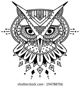 Owl Outline Images Stock Photos Vectors Shutterstock