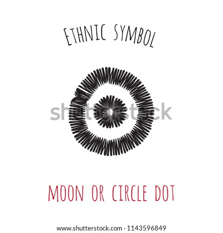 Ethnic Symbol Moon Circle Dot Hand Stock Vector Royalty Free