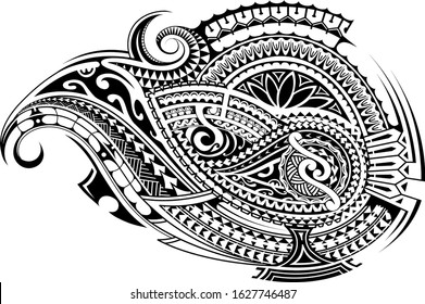 Polynesian Sleeve Tattoo Images Stock Photos Vectors Shutterstock