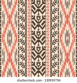 Ethnic textile decorative ornamental striped seamless pattern