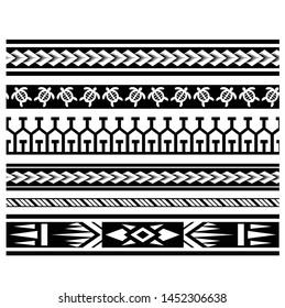 ethnic tribal border polynesian, tribal pattern tattoo, aboriginal samoan band, maori seamless art bracelets ornament, polynesian line tattoo pattern, maori black and white texture border