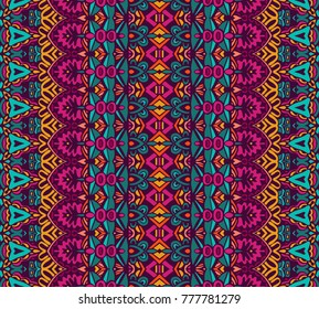 ethnic tribal festive pattern for fabric. Abstract geometric striped colorful seamless pattern ornamental.