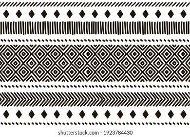 Ethnic vector seamless pattern. Tribal geometric background, boho motif, maya, aztec ornament illustration. rug textile print texture