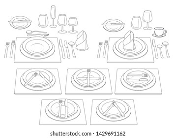 Cutlery Etiquette Images, Stock Photos & Vectors | Shutterstock
