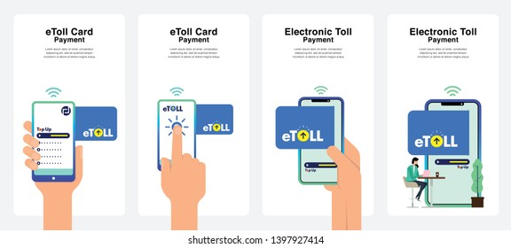 E-Toll Card Concept. Can Use For Immediately for Promotions, Website, Commercial And Others. Vector.