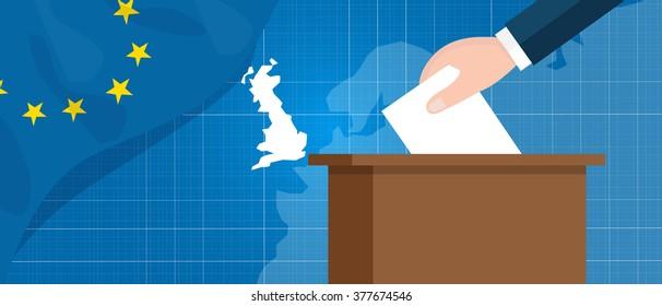 eu british referendum europe union exit britain break vector illustration vector